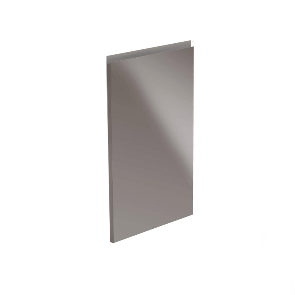 Dvierka na umývačku riadu, biela/sivá extra vysoký lesk HG, 59,6x571,3, AURORA