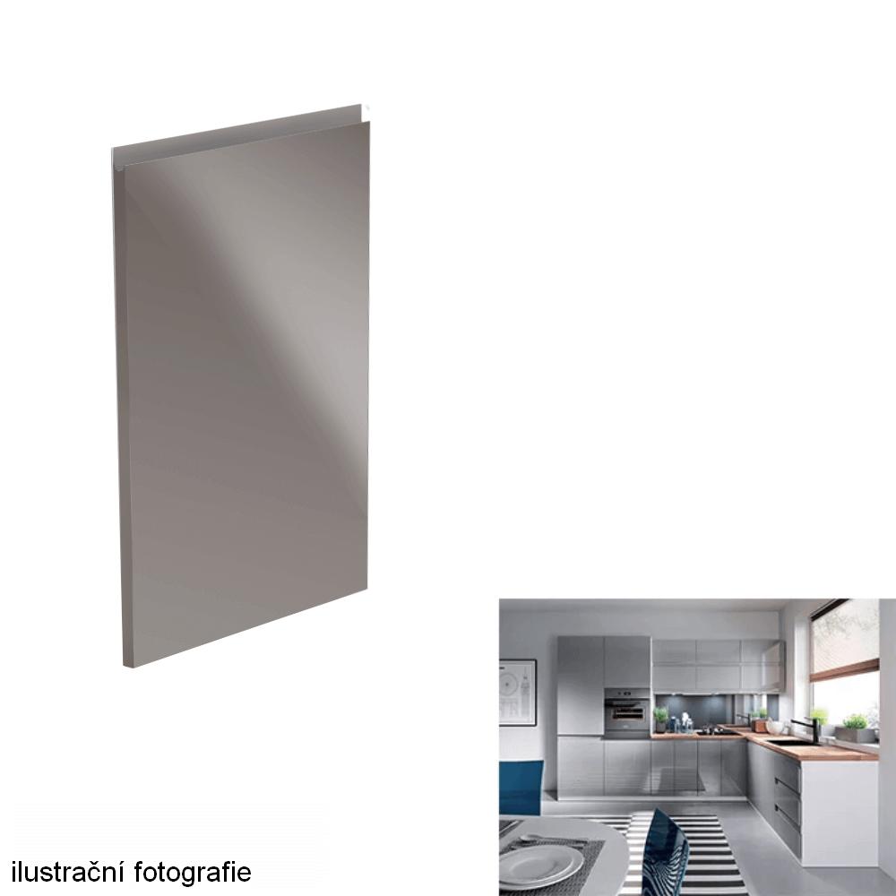 Dvířka na myčku, bílá / šedá extra vysoký lesk HG, 59, 6x571, 3, AURORA