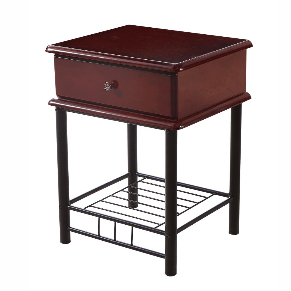 Noční stolek, tmavý dub / černá, Celesta 2 NEW