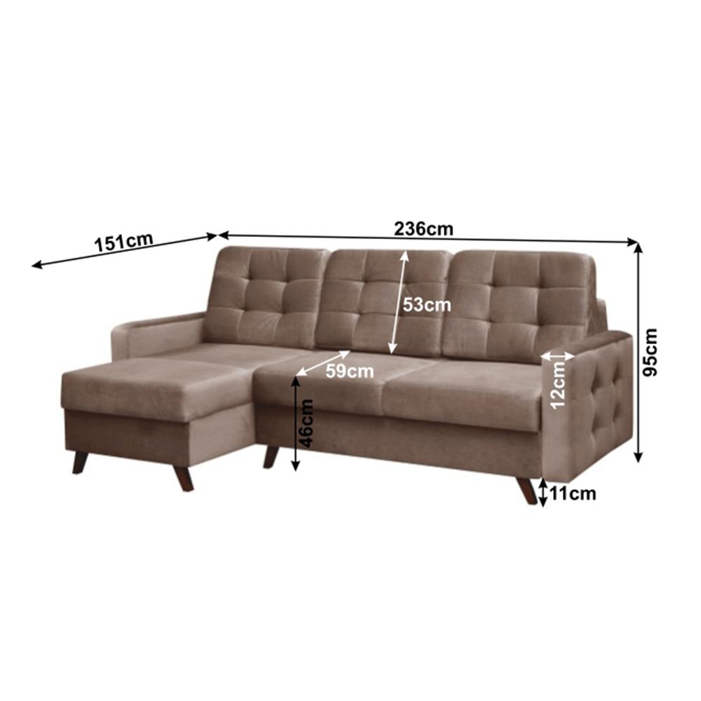 Univerzálna sedacia súprava, hnedá/wenge, MEDLIN