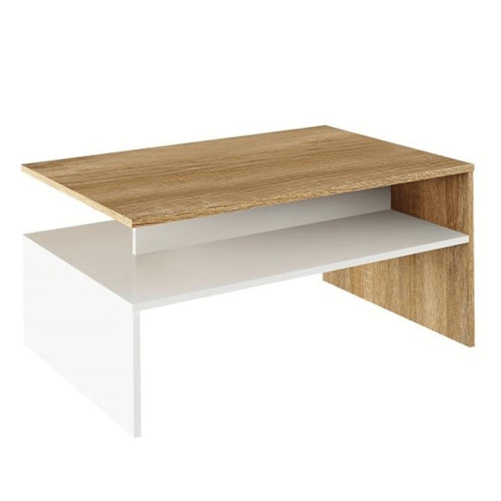 Konferenční stolek, dub sonoma / bílý, DAMOLI