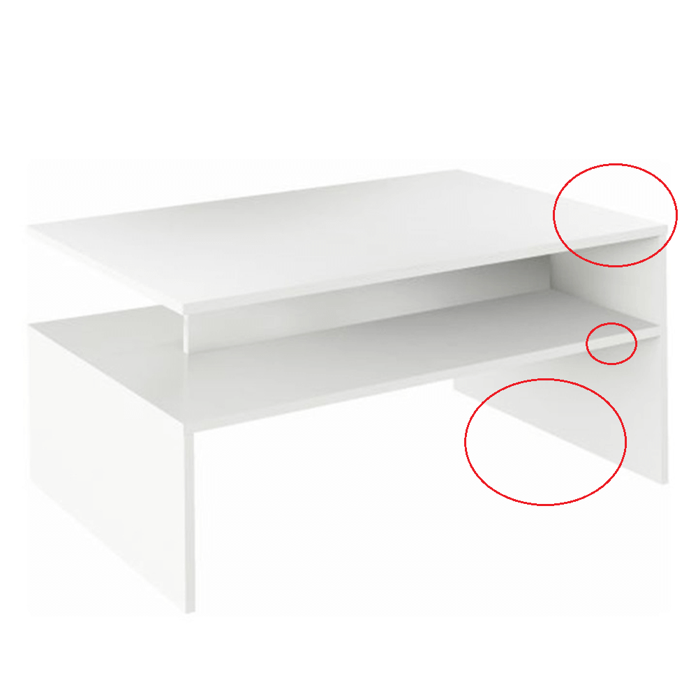 Konferenční stolek, bílý, DAMOLI, TEMPO KONDELA