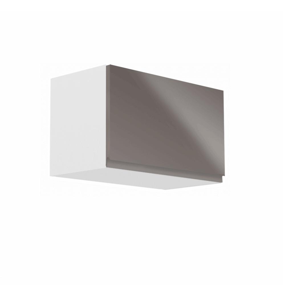 Horná skrinka, biela/sivý extra vysoký lesk, AURORA G60KN