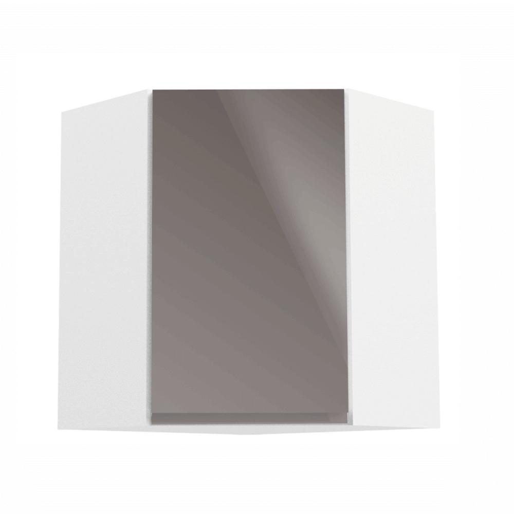 Horná skrinka, biela/sivý extra vysoký lesk, AURORA G60N