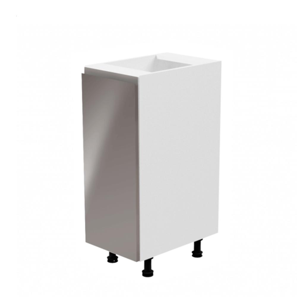 Alsószekrény, fehér/szürke extra magasfényű, jobbos, AURORA D30