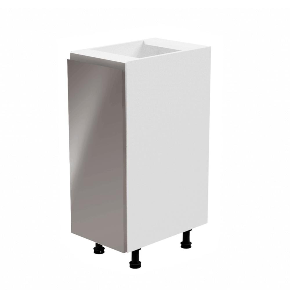 Spodná skrinka, biela/sivá extra vysoký lesk, ľavá, AURORA D30
