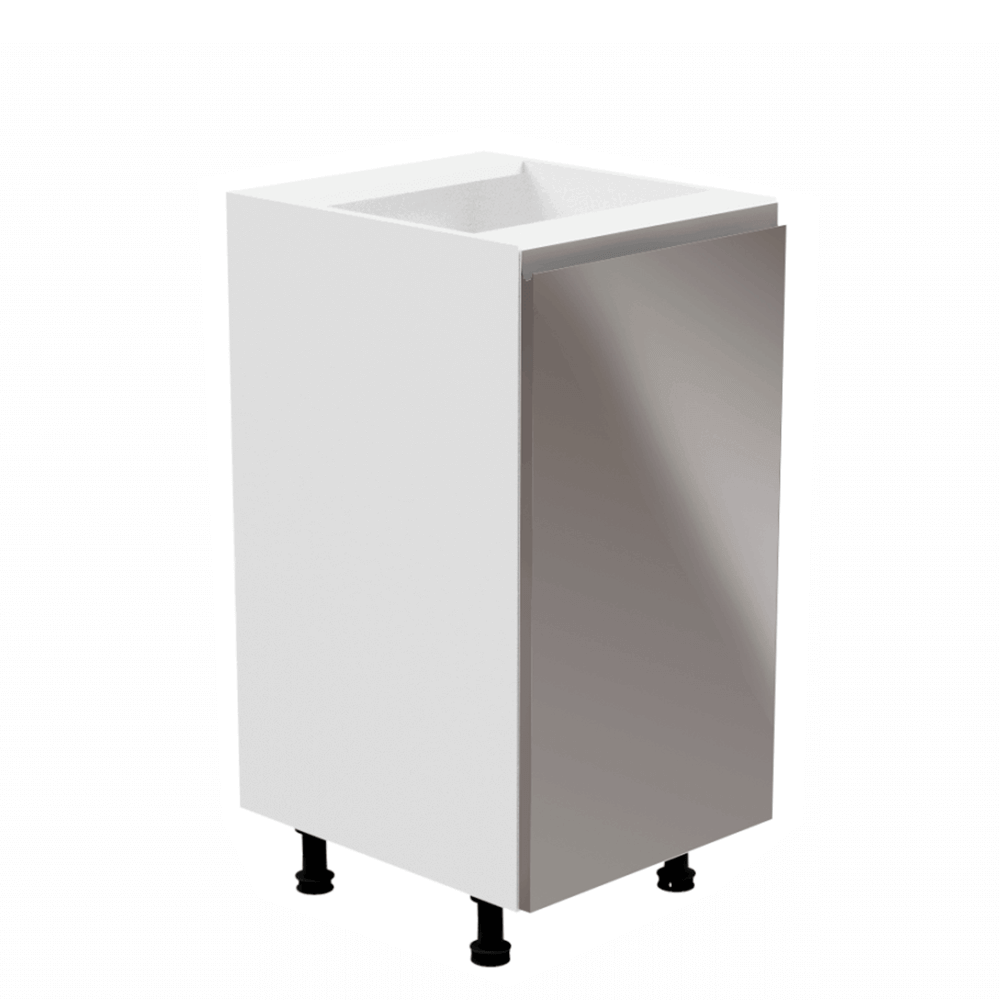 Spodná skrinka, biela/sivá extra vysoký lesk, pravá, AURORA D40