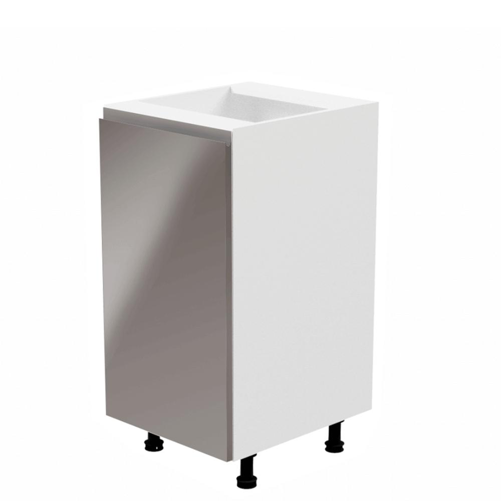 Spodná skrinka, biela/sivá extra vysoký lesk, ľavá, AURORA D40