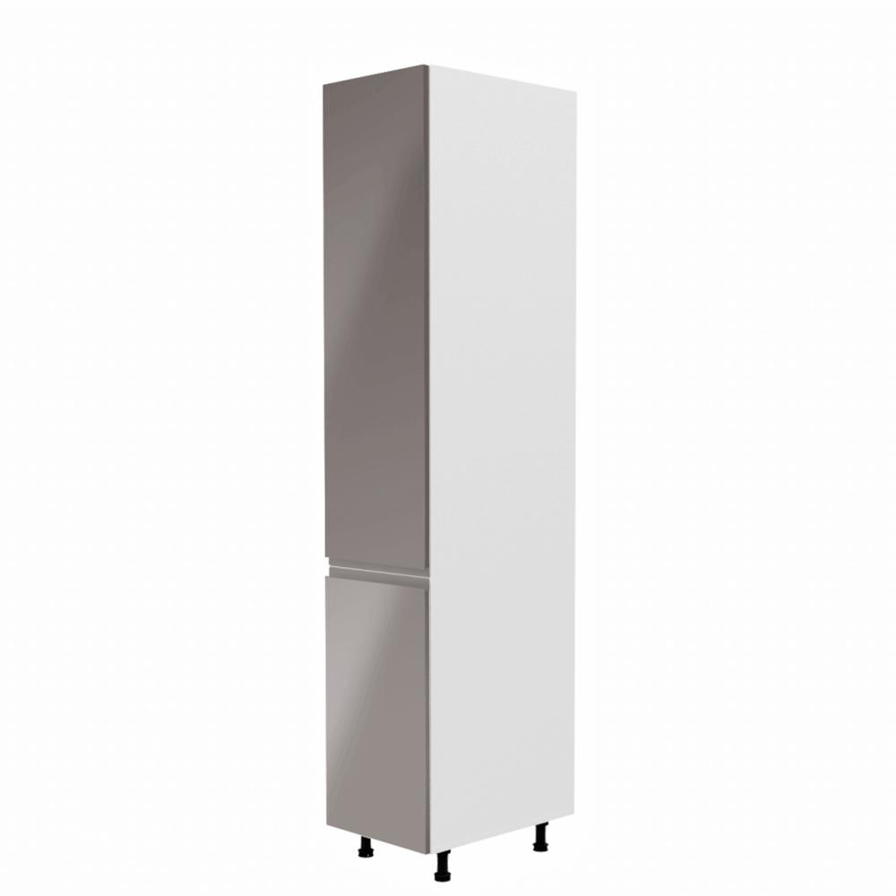 Élelmiszer szekrény, fehér/szürke extra magasfényű, balos, AURORA D40SP