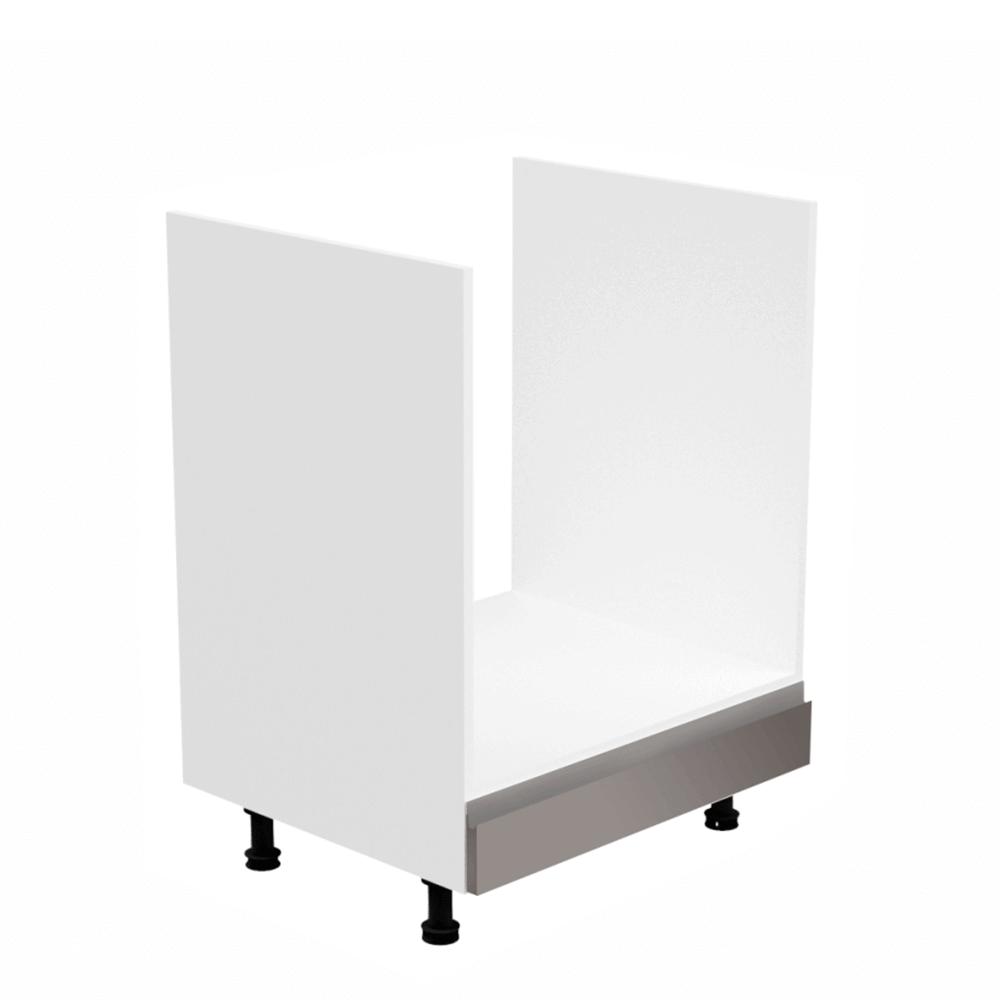 Szekrény a beépíthető készülékekhez, fehér/szürke extra magasfényű, AURORA D60ZK