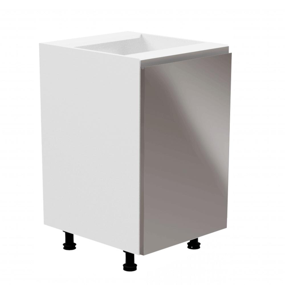 Spodná skrinka, biela/sivá extra vysoký lesk, pravá, AURORA D601F