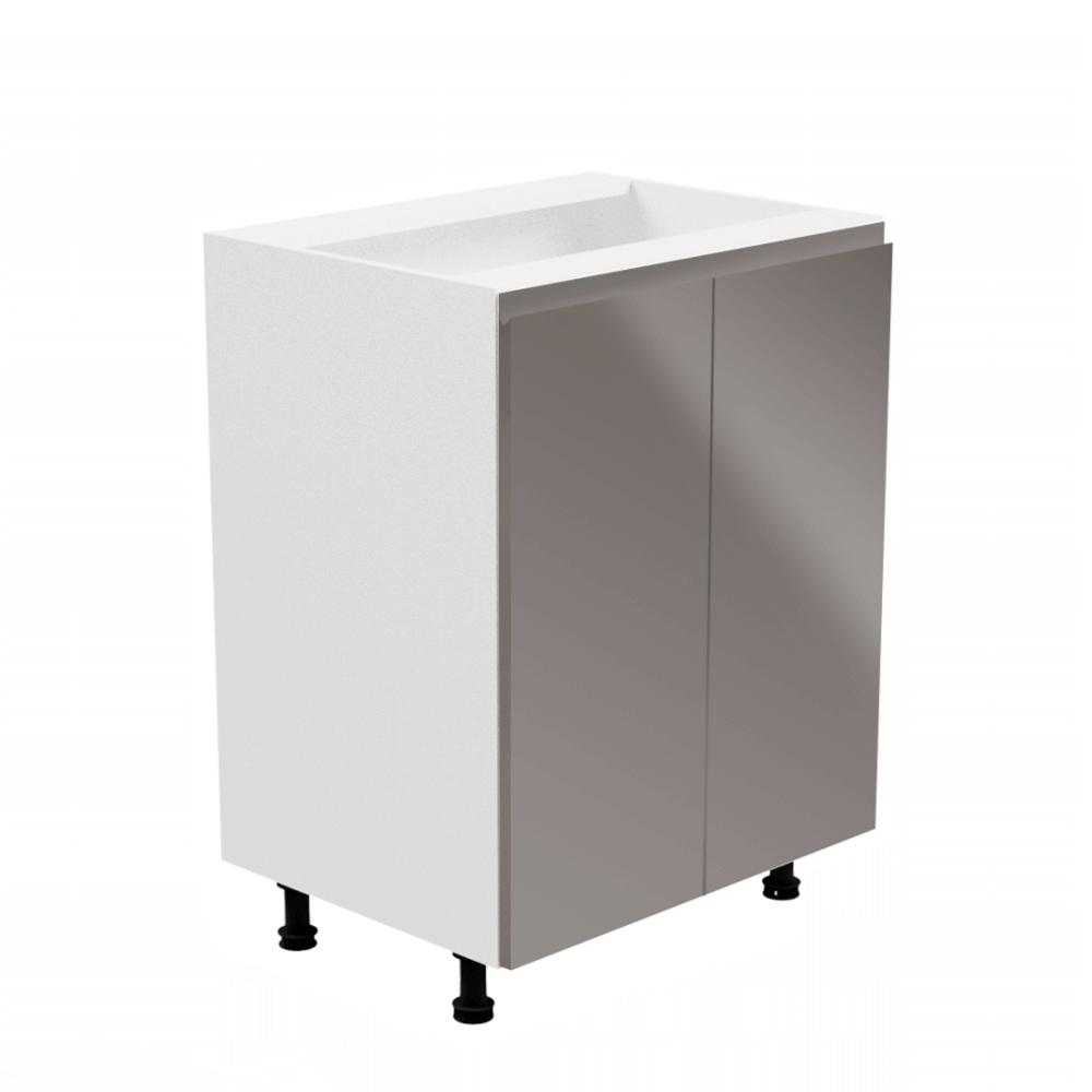 Spodná skrinka, biela/sivá extra vysoký lesk, AURORA D602F