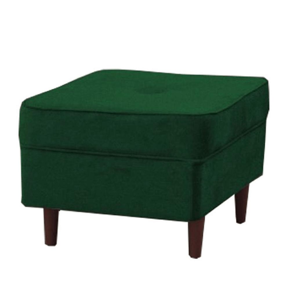 Moderní taburet, zelená/ořech, RUFINO