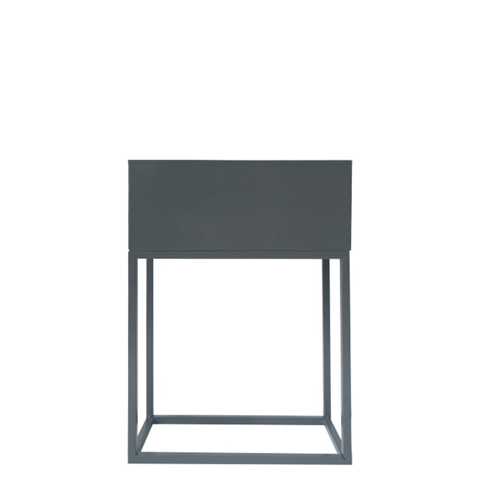 Multifunkční kovový květináč, tmavě šedá, INDIZE TYP 2, TEMPO KONDELA