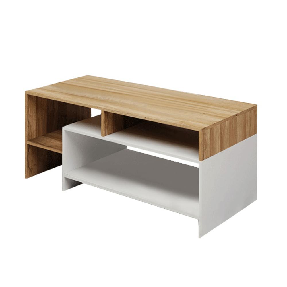 Konferenční stolek, dub grandson/bílá, ALICANTE