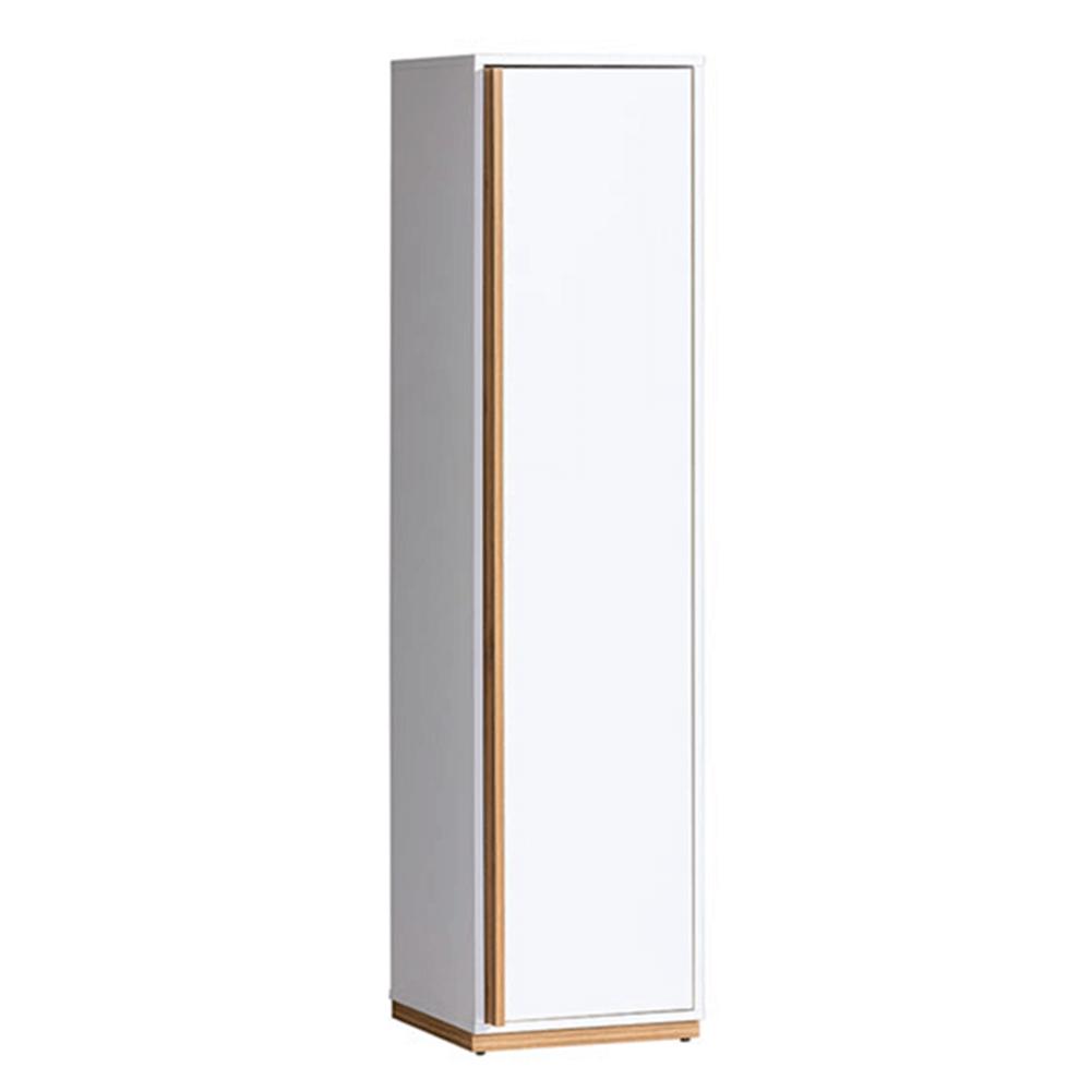 Polcos szekrény, dió select/fehér, KNOX E12