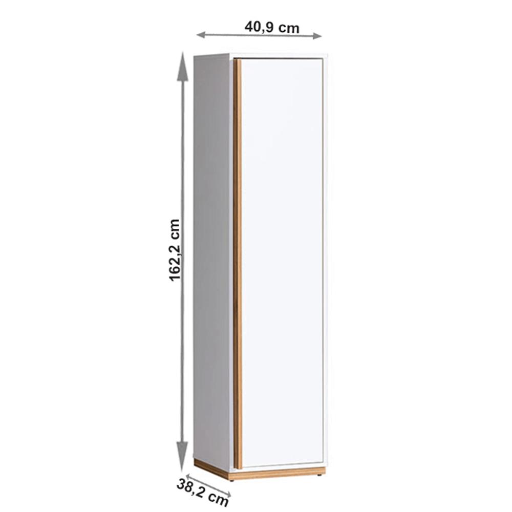 Policová skříň, ořech select / bílá, KNOX E12