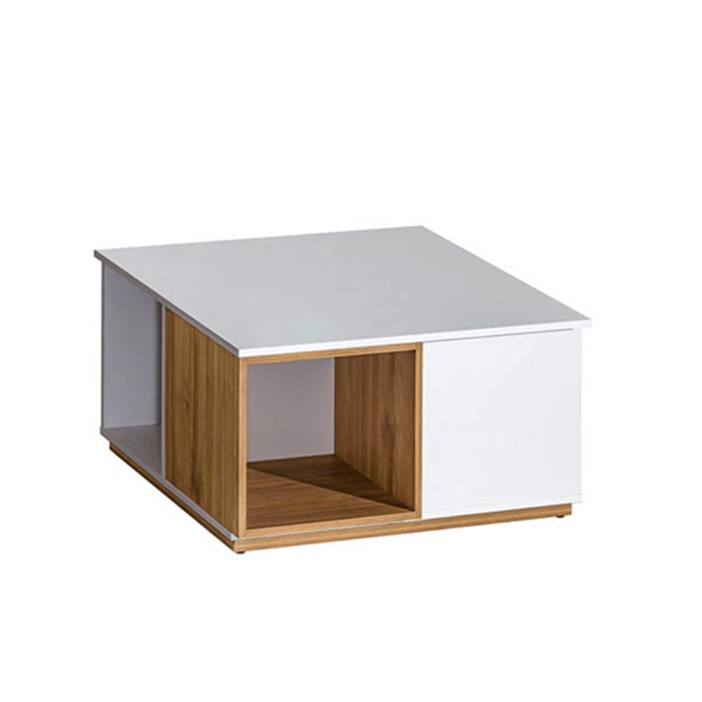 608/5000Konferenční stolek, ořech select / bílá, KNOX E13, TEMPO KONDELA