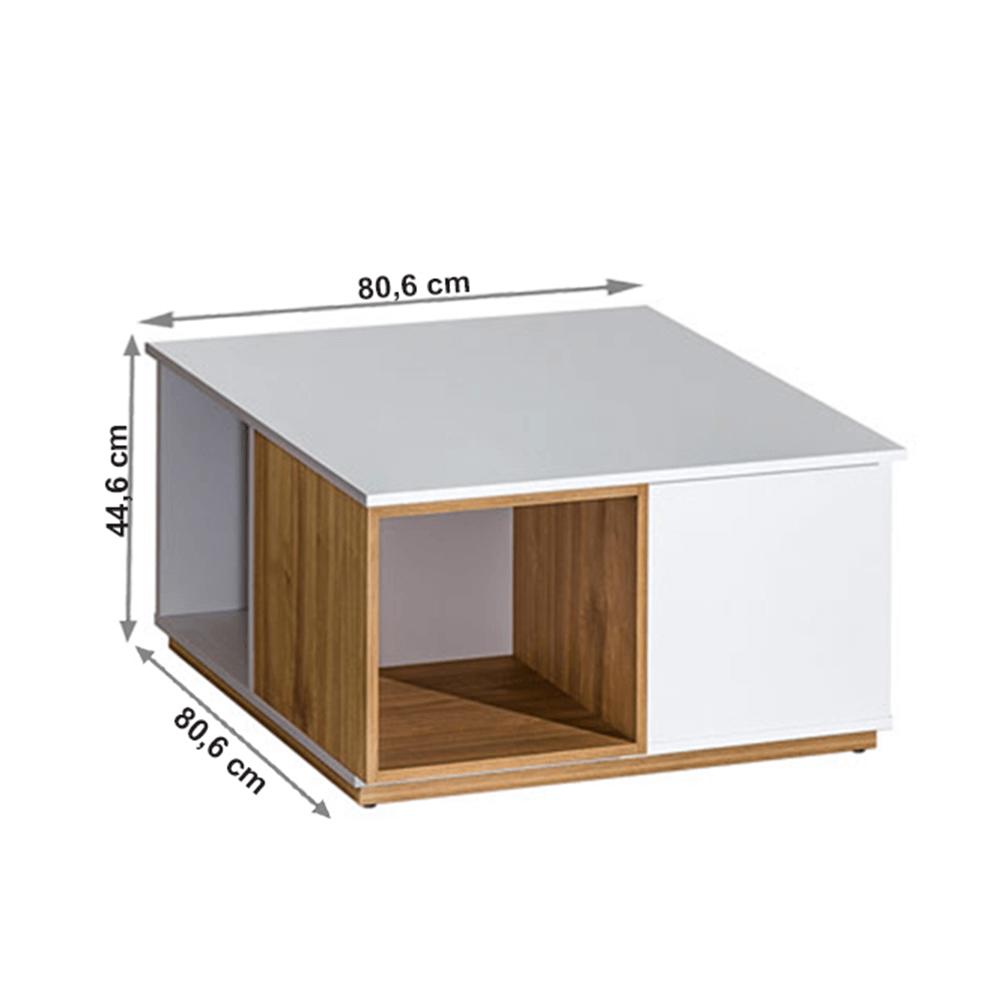 608/5000Konferenční stolek, ořech select / bílá, KNOX E13