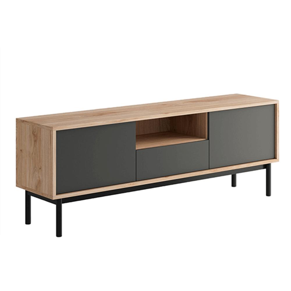 RTV asztal, tölgy jaskson hickory/grafit, BERGEN BRTV154