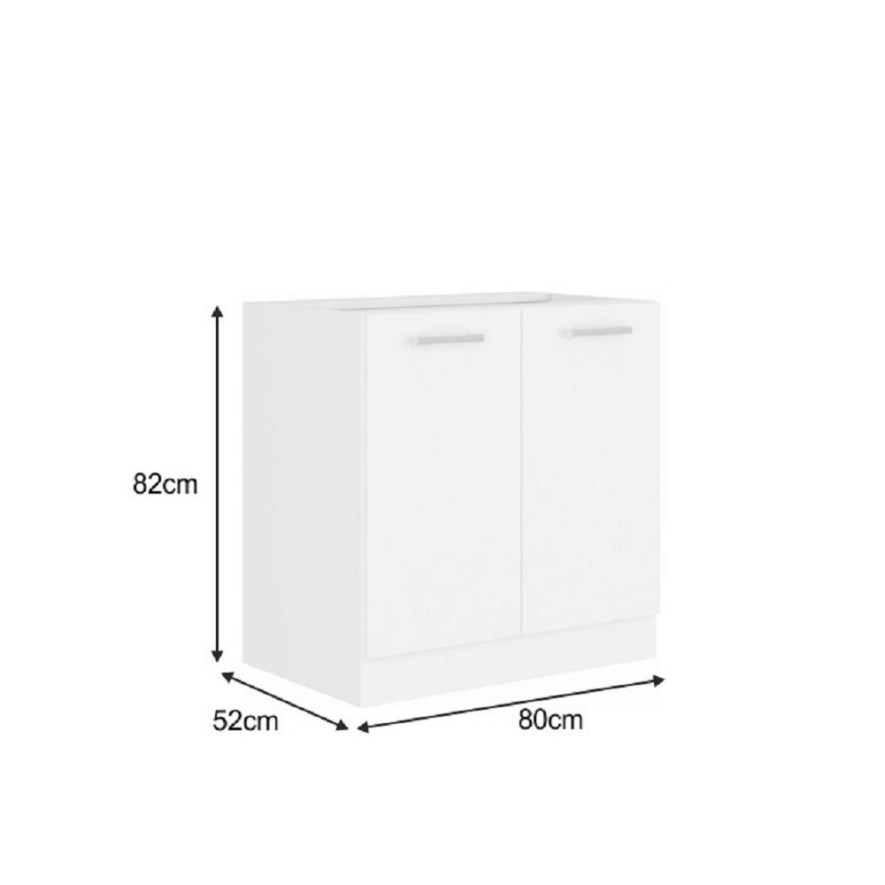 Spodní skříňka, bílá, SPLIT 80 D 2F BB