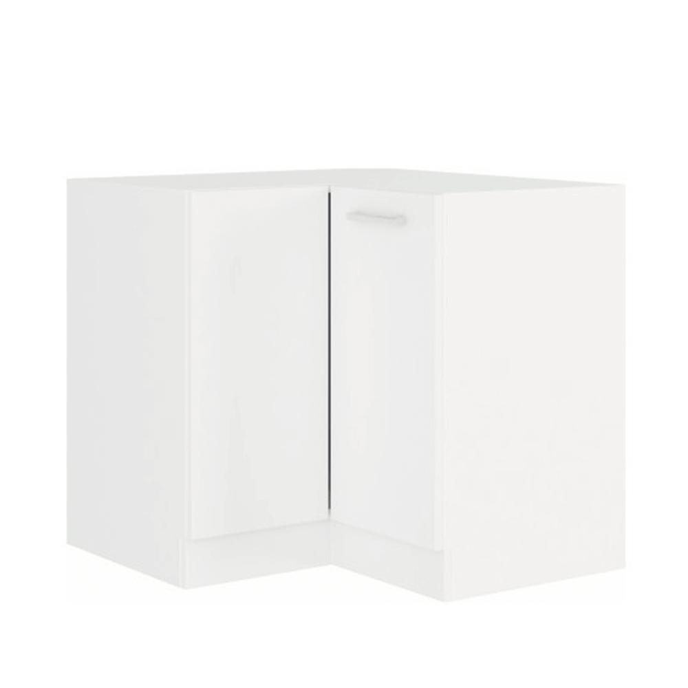 Rohová spodná skrinka, biela, SPLIT 89x89 DN 1F BB