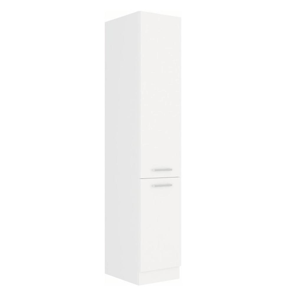 Magas szekrény, fehér, SPLIT 40 DK-210 2F