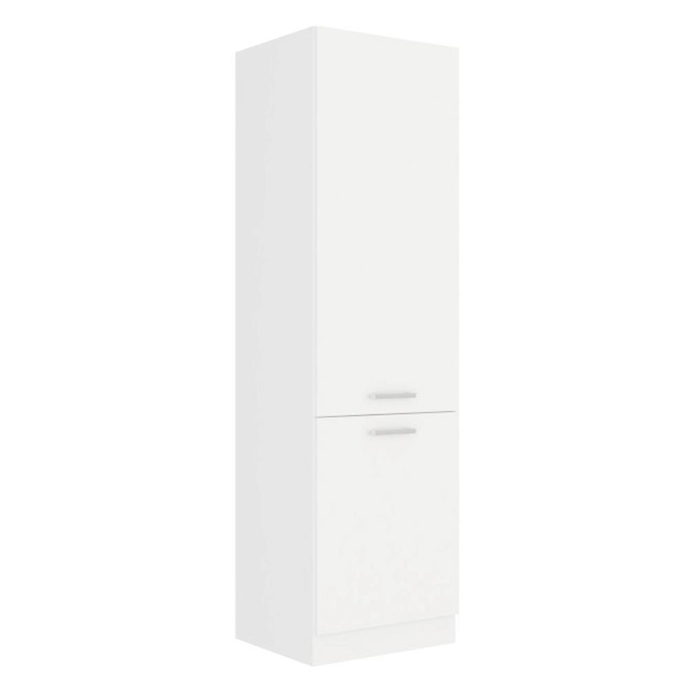 Magas szekrény, fehér, SPLIT 60 DK-210 2F
