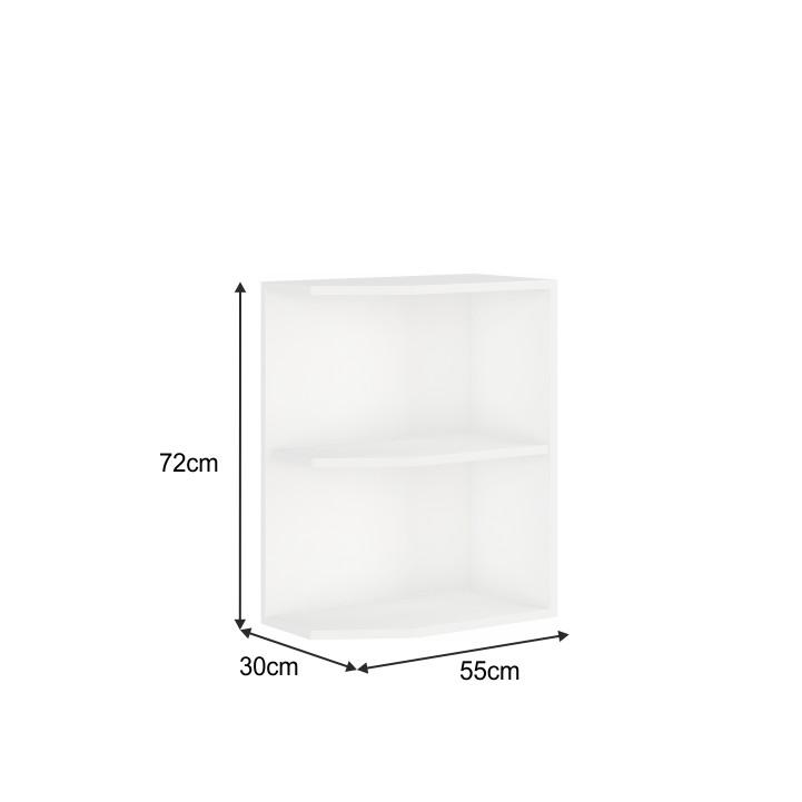 Spodní rohová skříňka, bílá, SPLIT 30 D ZAK BB
