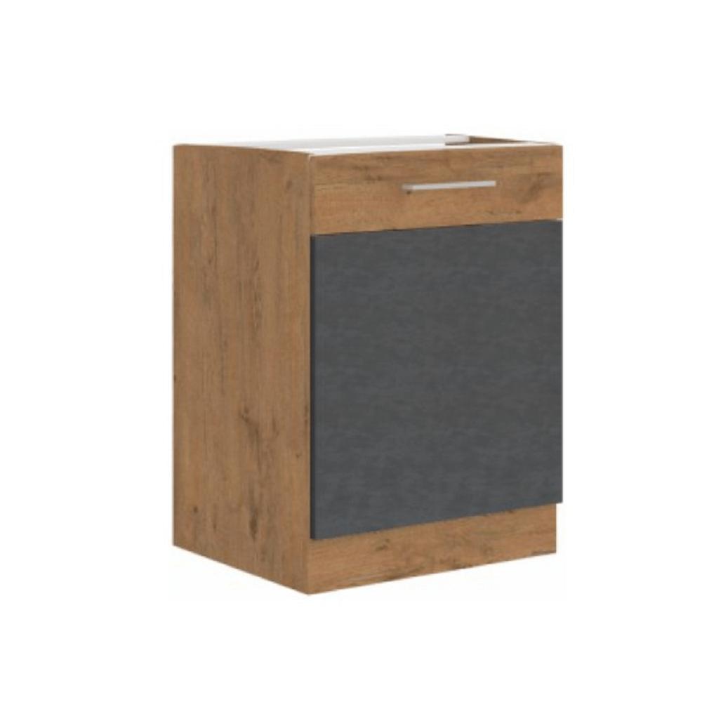Spodná skrinka, sivá matná/dub lancelot, VEGA 60 D 1F BB
