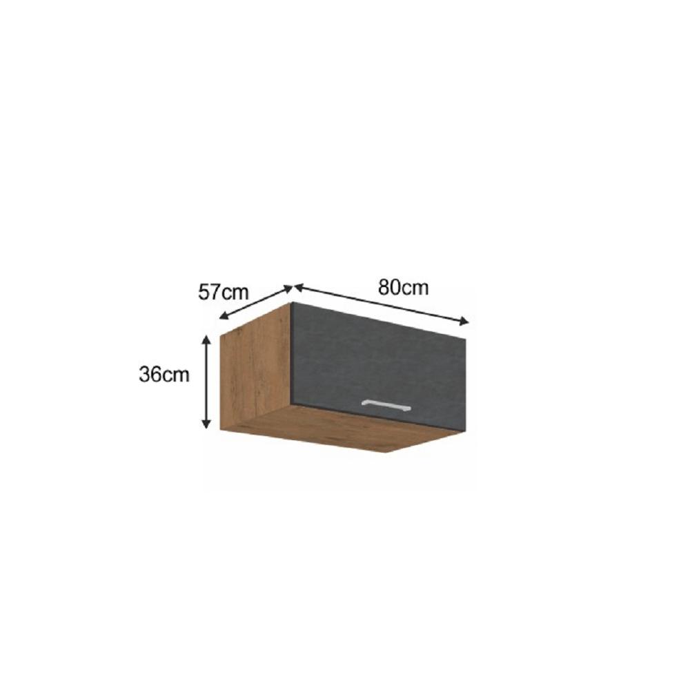 Horní skříňka, dub lancelot / šedá matná, VEGA 80 Nagu-36 1F
