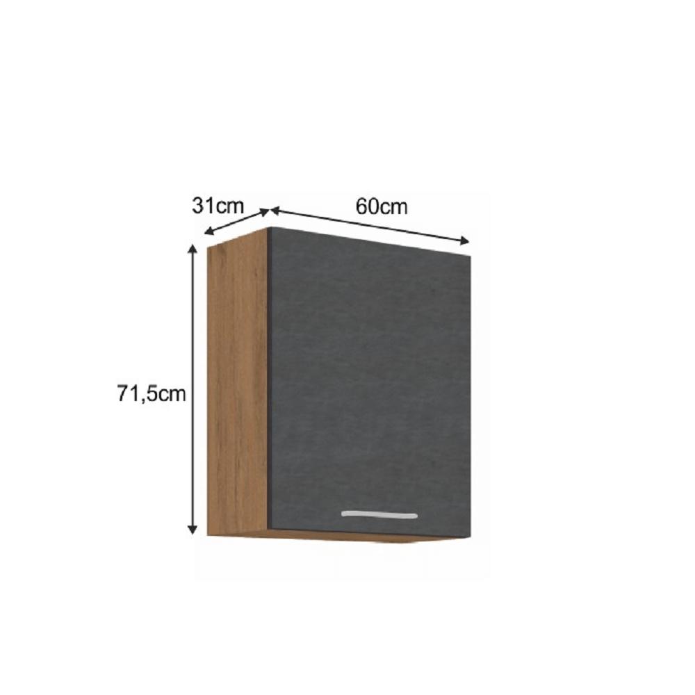 1144/5000Horní skříňka, dub lancelot / šedá matná, VEGA 60 G-72 1F