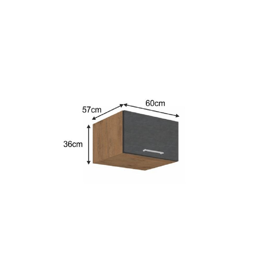 Horní skříňka, dub lancelot / šedá matná, VEGA 60 Nagu-36 1F