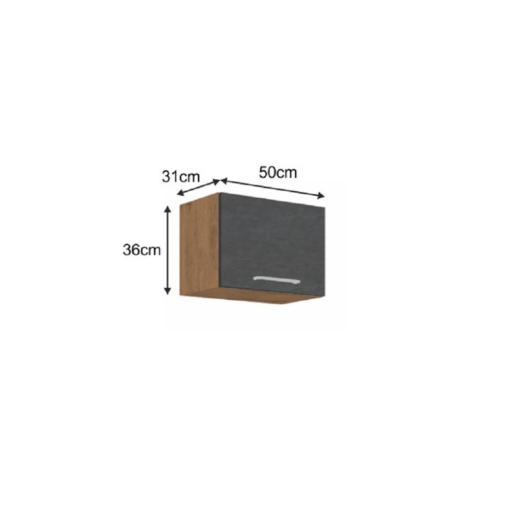 Horní skříňka, dub lancelot / šedá matná, VEGA 50 GU-36 1F