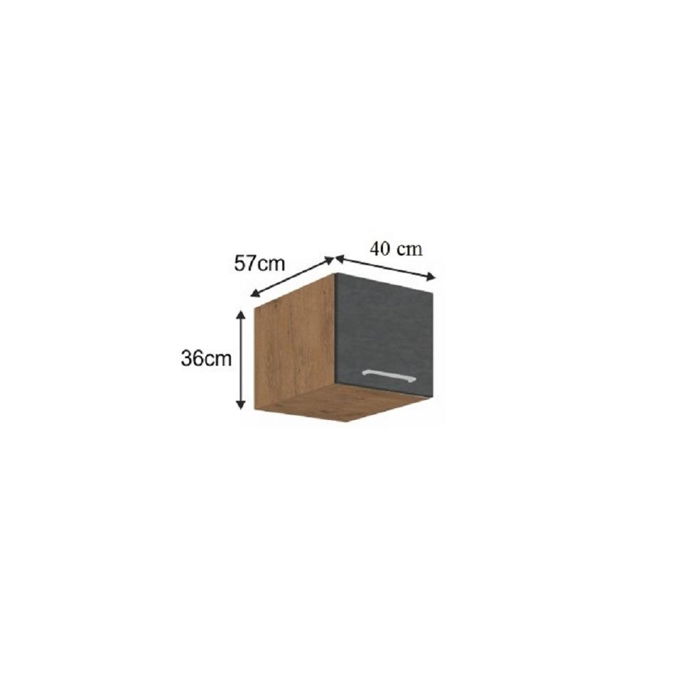 Horní skříňka, dub lancelot / šedá matná, VEGA 40 Nagu-36 1F