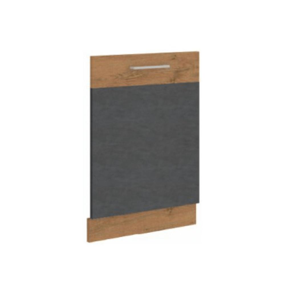 Dvierka na vstavanú umývačku riadu, sivá matná/dub lancelot, VEGA ZM 713x596