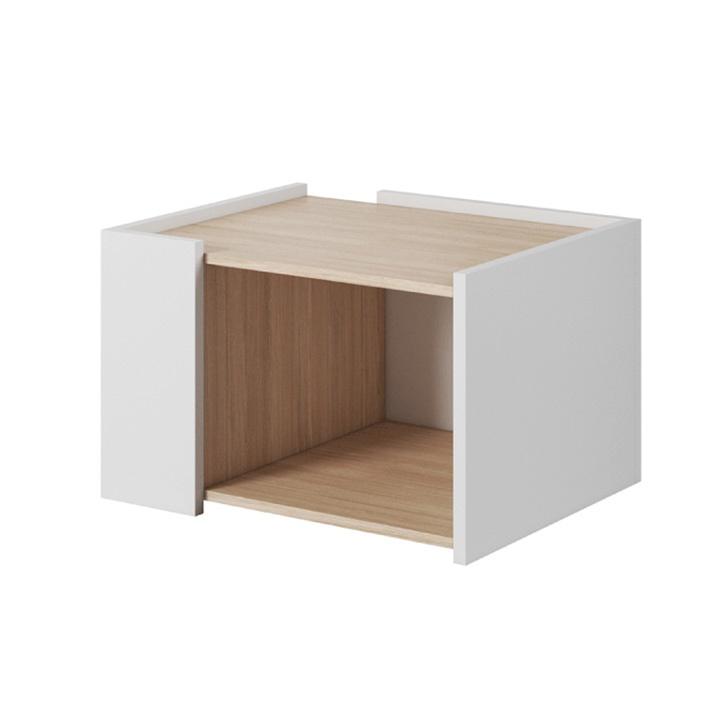 Konferenční stolek, dub jantar / bílý mat, LUIS