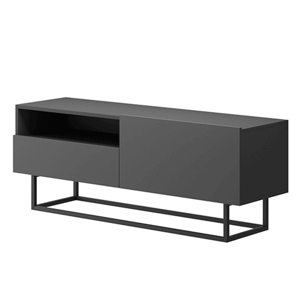 RTV asztal lábazat nélkül, grafit, SPRING ERTVSZ120