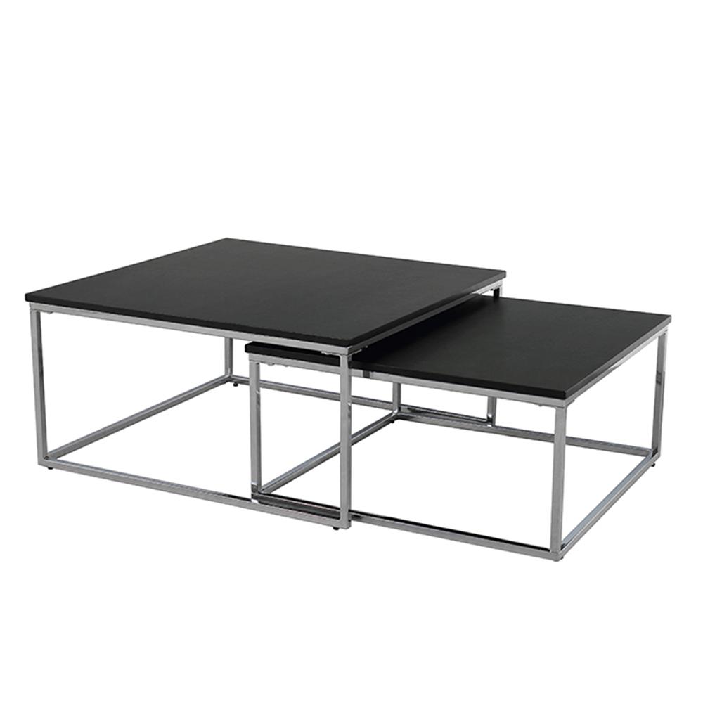 Set dvou konferenčních stolků, černá/chrom, AMIAS, TEMPO KONDELA