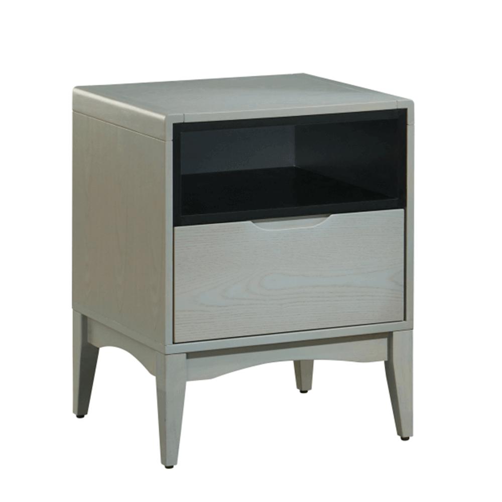 Noční stolek, šedá vinatge/černá, ADORE
