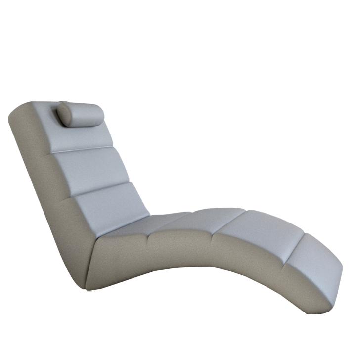 Relaxačné kreslo, ekokoža sivá, LONG