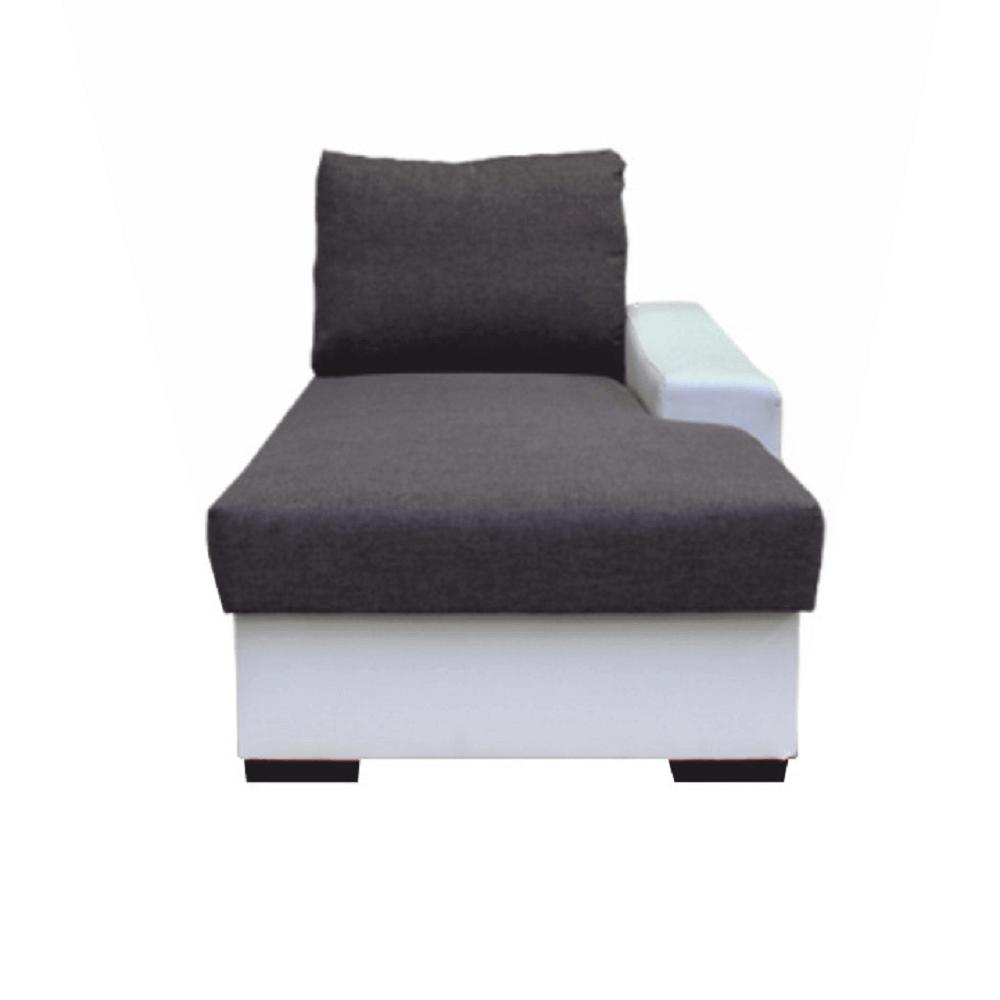 Otoman s úložným prostorem, bílá / šedá, pravý, OREGON 02-OTOM, TEMPO KONDELA