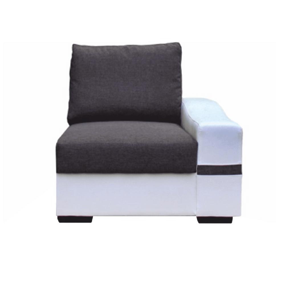 1-es ülőrész, fehér/szürke, jobbos, OREGON 05-1SED+BOK