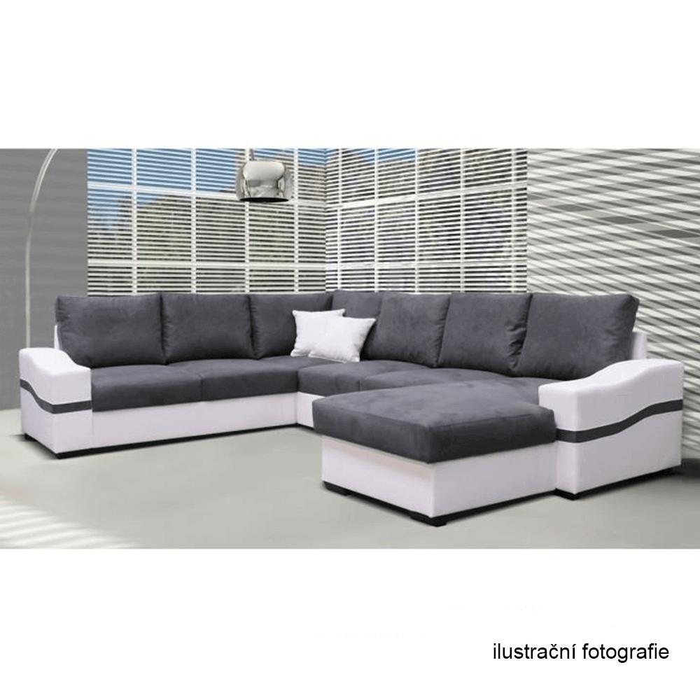 1-sed, bílá / šedá, pravý, OREGON 05-1SED + BOK