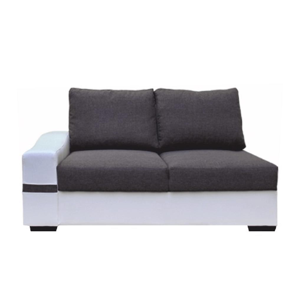 2-es ülőrész, fehér/szürke, balos, OREGON 07-2SED+BOK
