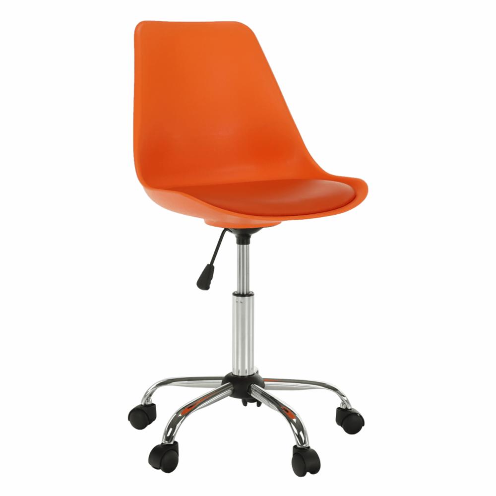 Kancelárska stolička, oranžová, DARISA