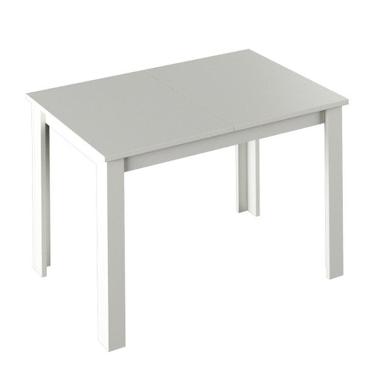 Jedálenský stôl, biela, LAURENCI