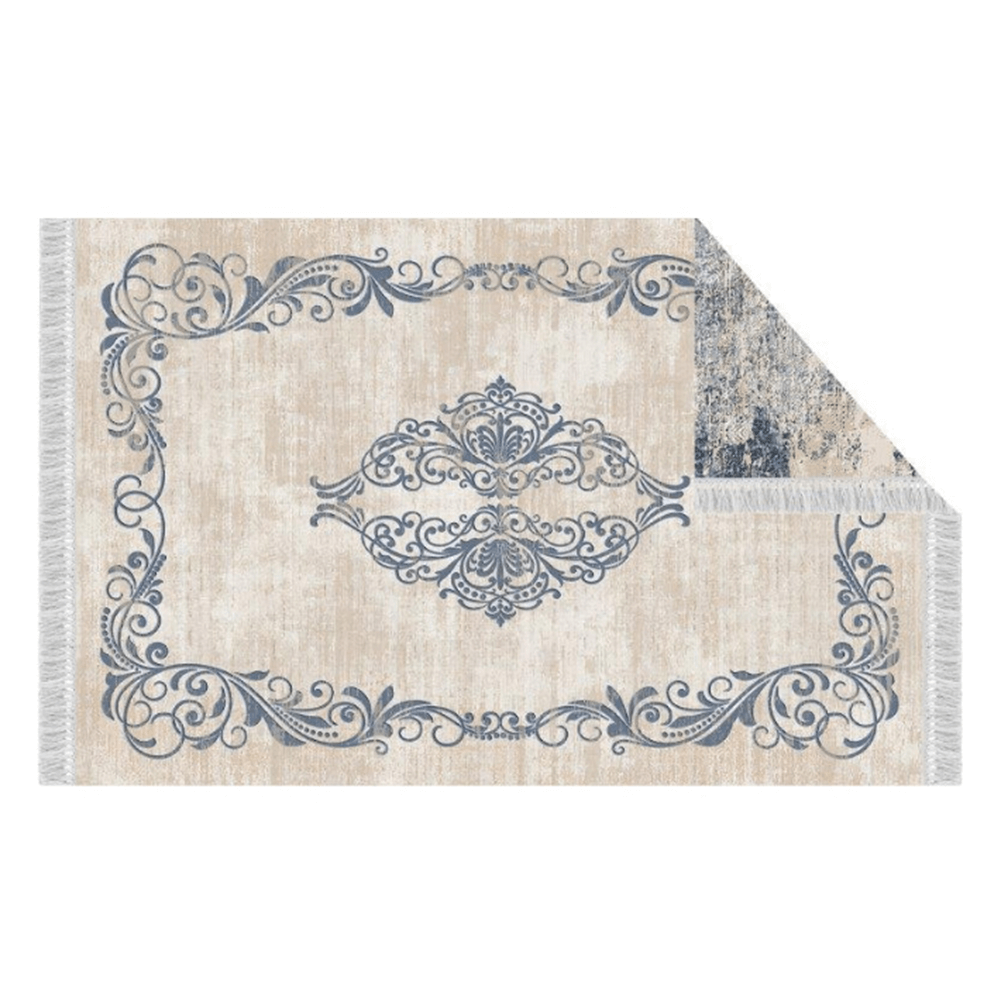 Koberec, vzor / modrá, 80x150, GAZAN