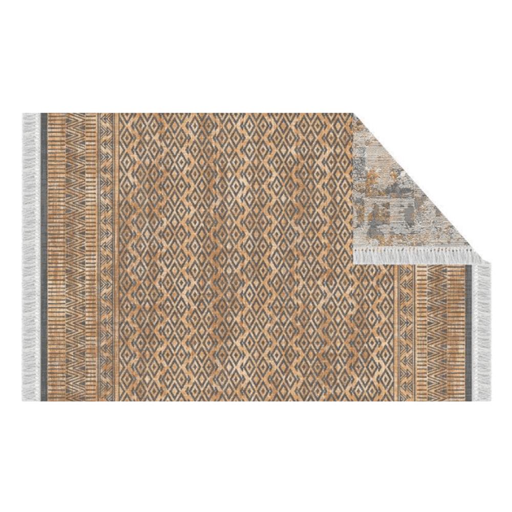 Oboustranný koberec, vzor / hnědá, 160x230, MADALA