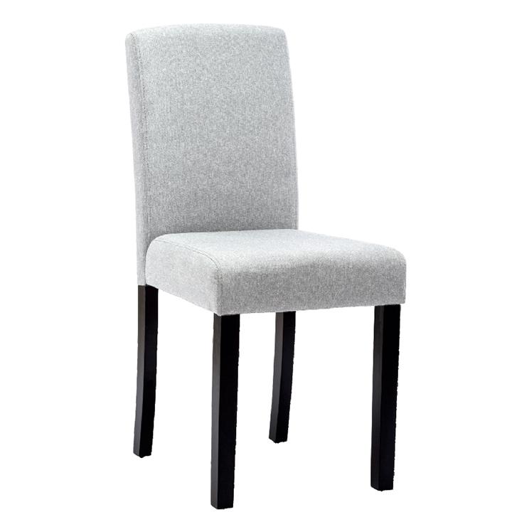Jedálenská stolička, svetlosivá/čierna, SELUNA, poškodený tovar - lacno